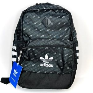 Adidas Trefoil Base Backpack in Black Monogram